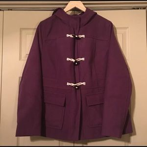 Old Navy Womens Purple Hooded Lined Toggle Coat